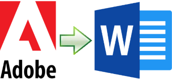 Convert Adobe documents including PDF, InDesign and Illustrator to Word format.